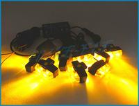 Amber 2X8 16W LED Car Strobe Light Warning light Beacon Strobe Emergency Light Flashing Grill light