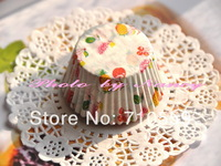 cake pack Cup Delicate fruit muffins paper film high temperature resistant oil paper cake tray
