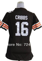 170.Free shipping women's rugby jerseys American Football jerseys game 16# CRIBBS computer embroidery Size  XS-XXL