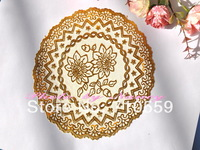 cake pack Golden lace anti hot stamping PVC Placemat coasters European waterproof heat insulation pad