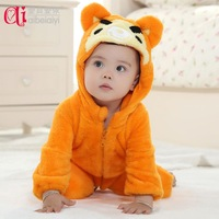 Baby bodysuit male thermal clothes romper newborn romper 0-1 year old autumn and winter