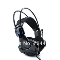 Fit 4 U Black E-3lue E-Blue Cobra 707 HS707 Blue Light Gaming Headset Headphone with Microphone Razer Gamer MSN Skype