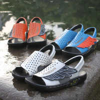 Children shoes 2014 female child sandals genuine leather male child sandals wings