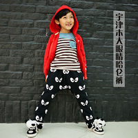 2014 spring child male female child trousers big eyes pants casual pants parent-child 11a