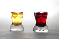 Sexy Naked Beauty Girl body Shape Glass cup Wine Glass Cup,Nice Gift 2pcs/set