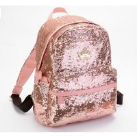 HOT! Women's paillette Satchel Bag School Backpack Campus Bookbag Student ladies Bling Schoolbag