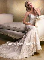 Free shipping best selling custom-made white&ivory&any color Sweetheart  Sleeveless Wedding Dresses SH0097