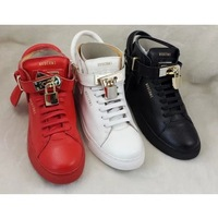 Man Jon Buscemi Sneakers 2014 New Leather Fashion Buscemi 100mm Mid-top Sneakers Padlock Buscemi 100mm Shoes