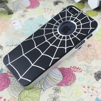 Aluminum Spider Man Web Style Metallic Chrome Snap metal Case Cover for iphone 5 5s phone bags cases