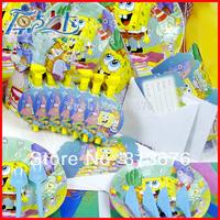 Happy birthday Free shipping 167 pcs birthday party decotations SpongeBob party decorations kids birthday party decorations