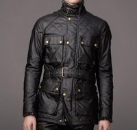 2015 New Arrival Brand casual Men motorcycle jacket, good quality quilted men chaquetas, black windbreaker waxed jacket M-XXXL