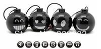Free ship 2pcs/lot MINI bomb speaker,3.5mm mini candy speaker amplifier,laptop pc sound box