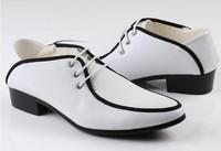 in stock! 2014 new men dress shoes men leather shoes oxford shoes for men business shoes men, size:38-43 2 colors