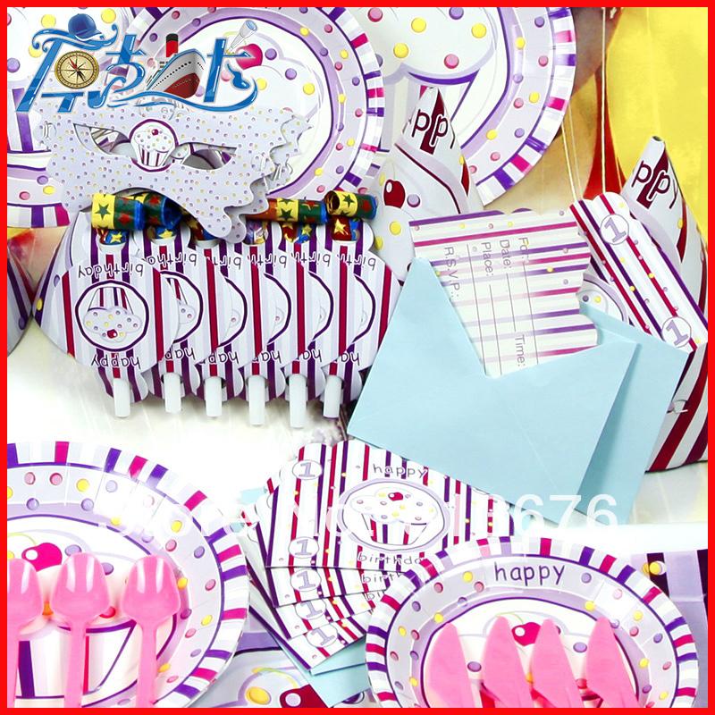 Happy birthday Free shipping 167 pcs birthday party decotations Princess Icecream theme outdoor birthday party decorations(China (Mainland))