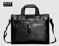 ZEFER Man Horizontal Handbag Man Vintage Laptop Shoulder Briefcase Genuine Leather Cowhide Versatile Zipper Classical
