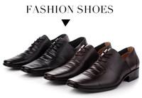 in stock! 2014 new men dress shoes men genuine leather shoes oxford shoes for men business shoes men, size:38-43, 2 colors