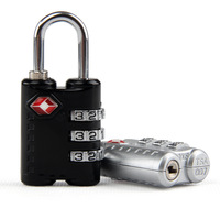TSA301 Resettable 3 Digit Combination Padlock free shipping Suitcase Travel Lock TSA locks Luggage Padlock