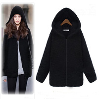 2014 spring women's fashion medium-long slim winter plus size woolen outerwear female
