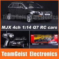 2014 New MJX 4ch 1:14 Q7 radio remote control RC car model R/C model LED Light toy gift with Original color box  Free shipping
