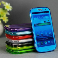 Dirt/shock Proof Transparent Protective Soft TPU flip Case for Samsung Galaxy S4 I9500 Free shipping not retail packaging