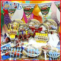 Happy birthday Free shipping 90 pcs birthday party supplies the cars theme decorations birthday party supplies theme