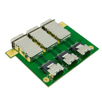 CY 3 Ports PCI SAS Adapter Internal SFF-8087 to External SFF 8088 without bracket