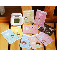 mix min order $20 Cartoon girl card bus card case bank card holder card case w1134