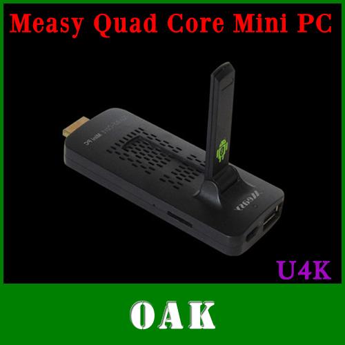 Free DHL - Original Measy U4K HD 4K Quad Core Android TV Box/Mini PC RK3188 2GB+8GB Support Bluetooth4.0/HDMI/1080P - 20pcs(China (Mainland))