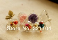 Free ship! 50sets/lot Mixed Design Glass Bubble & Ring set DIY Jewelry Findings NEW (not include the fillers)