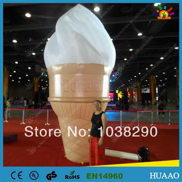 Free shipping icecream model inflatable adverting products with CE/UL blower for sale(China (Mainland))