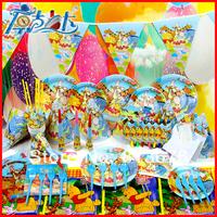 Happy birthday Free shipping 90 pcs birthday party decorations winnie birthday party supplies