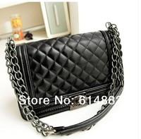Bags 2014 Women's Fashion Handbag Plaid Chain Bag Messenger Bag Vintage Fashion Women's Handbag