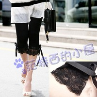 New 2014 Korean Fashion New Elastic viscose legging   lace decoration  woman  leggings