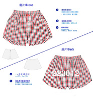 New 2014 Better quality 100% cotton plaid Men's Boxers Men underwears Red Plaid