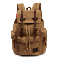 Free Shipping Retail  Versatile Man's Casual Shoulder Bag  Canvas Bag Backpack Khaki Color And Black  EMS DHL