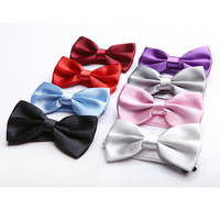 Vogue of new fund of 2014 married men and women bow tie men joker pure color business tie