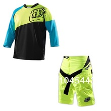 Troy Lee Designs Ruckus Jerseys+shorts Tree Quarer sleeve MX Off road Motocross MTB DH Bike Bicycle Cycling Jersey Short Pant We(China (Mainland))