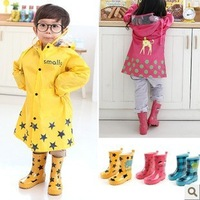 Young children's rain boots baby boots for boys and girls rain boots tube Patten,lovely fashion