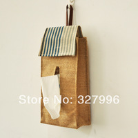 Zakka fluid corchorus box tissue pumping box household cloth towel sets car tissue pumping