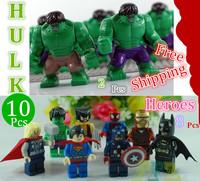 2014 Classic Toy Star wars Avengers Super heroes Big Hulk Spiderman Ironman wolverine Batman Plastic Block dolls Best Kid's gift