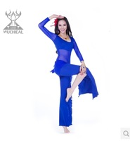 2014 New Upscale Long-sleeved 3 Pics Top&Pants&Belt Belly Dance Practice Clothes Suit,8 Colors TP2157
