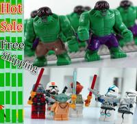 Star wars Classic Toy Avengers Big Hulk Aliens Ironman wolverine Batman Plastic toys Action figure Block dolls Best Kid's gift