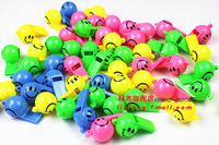 4g smiley whistle plastic toy whistle props whistle