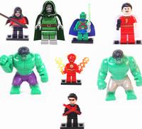 2014 New Toys 2pcs Big Hulk Action Figures The Avengers Mini Toys 8pcs/set Learning & Education Classical Toy Dolls For Children