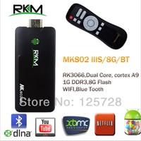 Rikomagic MK802IIIS + MK702 Mini Android 4.2 PC STB RK3066Cortex A9 1GB RAM 8G ROM Bluetooth HDMI TF Card