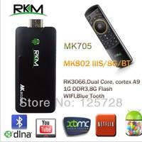 Rikomagic MK802 IIIS +MK705 Mini Android 4.2 PC Android box RK3066Cortex A9 1GB RAM 8G ROM with Bluetooth