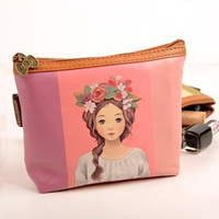 2014 New Arrival Wholesale PU  Retro fashion multifunction Lolita Women Coin Purse Lolita Make up bag