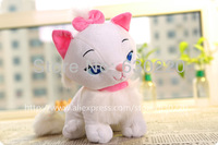 High quality Classic Cartoons Plush Toy 25cm Cute Disnep Marie Cat toys for girls birthday gifts Free shipping