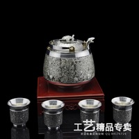 Pot hot wine pot - tinwares handmade classic - - Small silver turtle wine