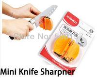 Mini Ceramic Carbide Knife Sharpener Kitchen Blade Pocket Knives Sharpening Tool retail packing  free shipping